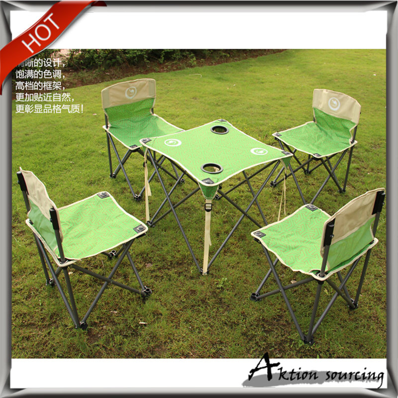 Free shipping Five Pieces Portable Folding Tables & Chairs Outdoor Garden Camping Picnic Travel BBQ Beach Table &chairs(China (Mainland))