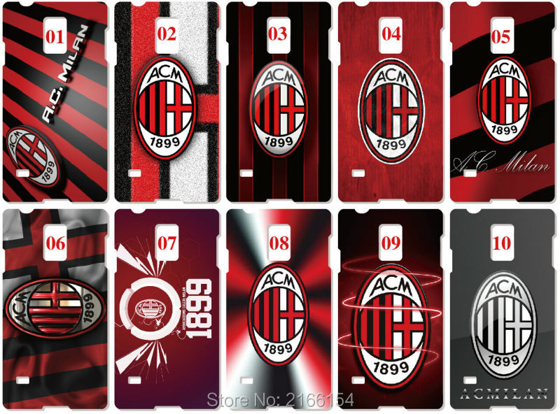 AC Milan Painting Plastic Hard Cover For Samsung Galaxy S2 S3 S4 S5 Mini S6 S7 Edge Plus Note 2 3 4 5 Mobile Cell Phone Case(China (Mainland))