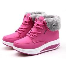 2016 Nuevas mujeres botas de invierno de algodón acolchado zapatos de nieve botas de cuero caliente zapatos de las mujeres de moda zapatos cómodos caliente venta B776(China (Mainland))