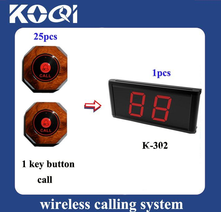 Cheap Wireless Calling System for Teahous Restaurant Bar < 25pcs buttons+1pcs receiver > Free Shipping By DHL/EMS(China (Mainland))