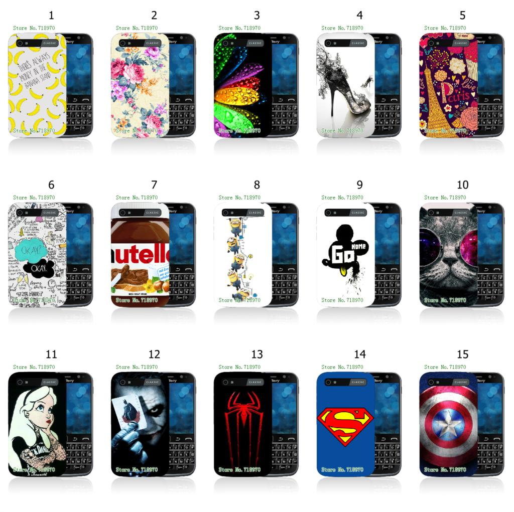 bad mickey minions tattoo 1pc hybrid retail 15designs white mobile phone hard cover cases for BlackBerry Classic Q20 free ship(China (Mainland))