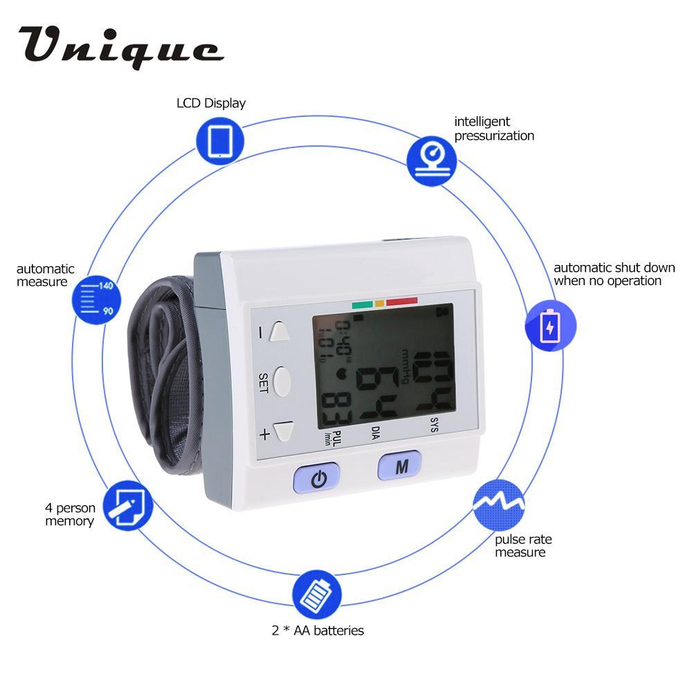 Electronic Wrist Type Blood Pressure Monitor Digital Pulse bp Monitor Intellisense Microcomputer Intelligent Type LCD Display(China (Mainland))