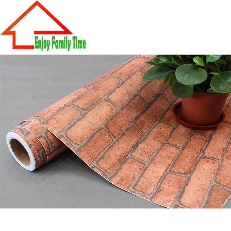 Brick Garden Wall Decor : Pvc brick pattern wall papers home decor cmx m per roll
