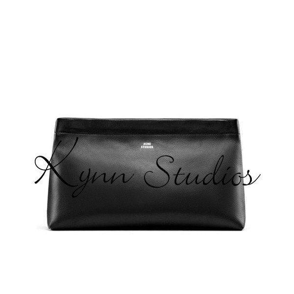 ACNE stylish Day clutches Genuine Leather Women handbag fashional cosmetic bags lady black storage bags shrapnel opening<br><br>Aliexpress