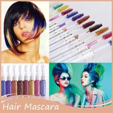 1 ST Haarkleur Haarverf Kleur Gemakkelijk Tijdelijke niet-giftig DIY Haar Mascara Kleur Haar Crème Kleur Krijt professionele Mutlicolor