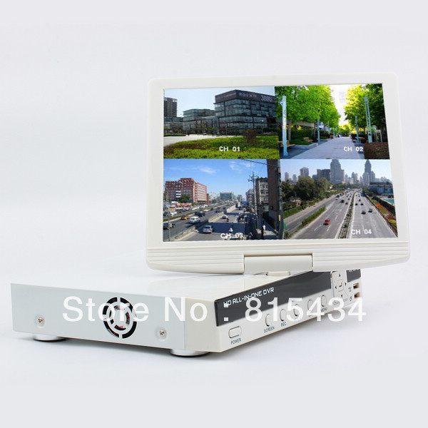 """8ch H.264 cctv realtime DVR with 10.5"""" Lcd monitor, Support iPhone,blackberry, Windows Mobile, Android, Symbian(China (Mainland))"""