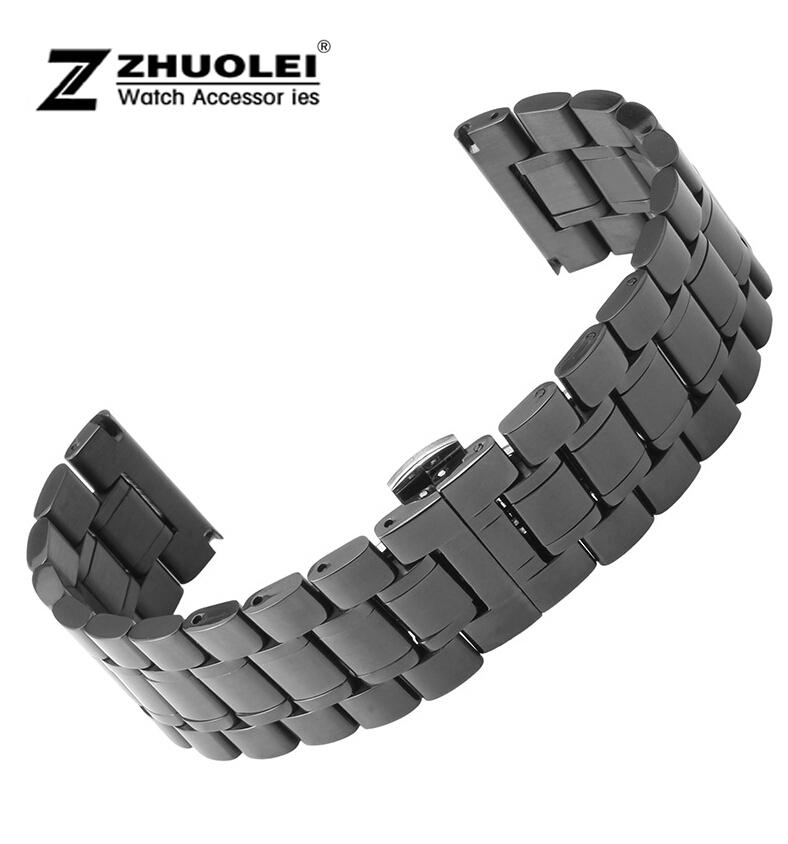 bracelet montre acier 24 mm. Black Bedroom Furniture Sets. Home Design Ideas
