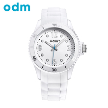 ODM Lady's Watch Simple Students' Watch Casual Watch Silicone Strap Wristwatch for Sports DM037/038(China (Mainland))