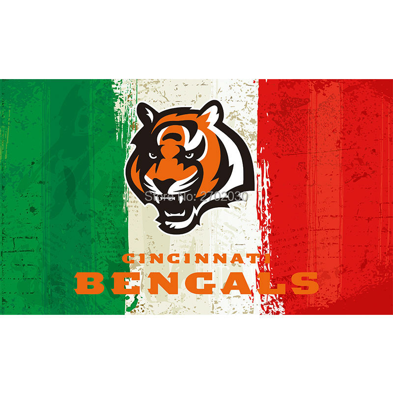 Green White Red Cincinnati Bengals Flag Super Bowl Champions Football Team Fan 3ft X 5ft Banner 100D Polyester(China (Mainland))