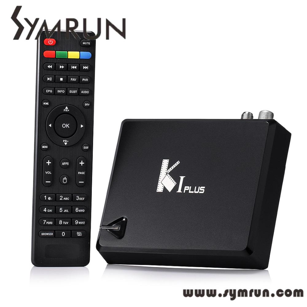 Symrun Kodi Ki Plus +T2 S2 Amlogic S905 Quad Core 64-Bit Android Tv Box Support Dvb Ki Plus K1 Plus Dvb(China (Mainland))