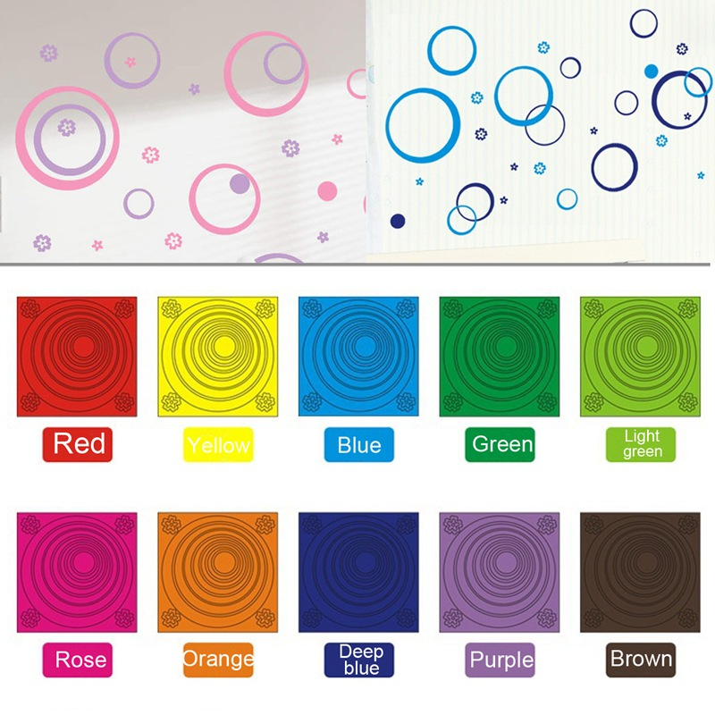 """Colorful DIY Clearance-Wall Sticker """"Circles"""" Removable Living Room TV/Sofa Background DIY Wallpaper 10 Colors(China (Mainland))"""