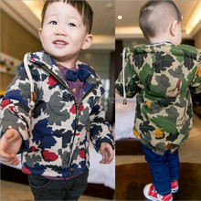 Top Quality 1PC (0-2Yrs) children kids toddlers baby Boy's Winter Wadded Jackets padded camouflage Coat &Outwear freeshipping(China (Mainland))