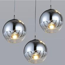 Modern Tom Dixon Mirror Sliver Glass Pendant Light spherical ball electroplating single head pendant lamp restaurant fixture(China (Mainland))