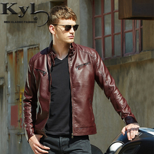 2016 Men's Popular Handsome PU Leather Jacket Punk New Red Leather Jackets Zipper Men Chupas De Cuero Hombre  609(China (Mainland))