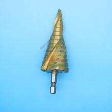 New 1pcs 4-32mm HSS Hex 1/4 inch Shank Titanium Spiral Groove Step Drill Bit Power Tools Accessories(China (Mainland))