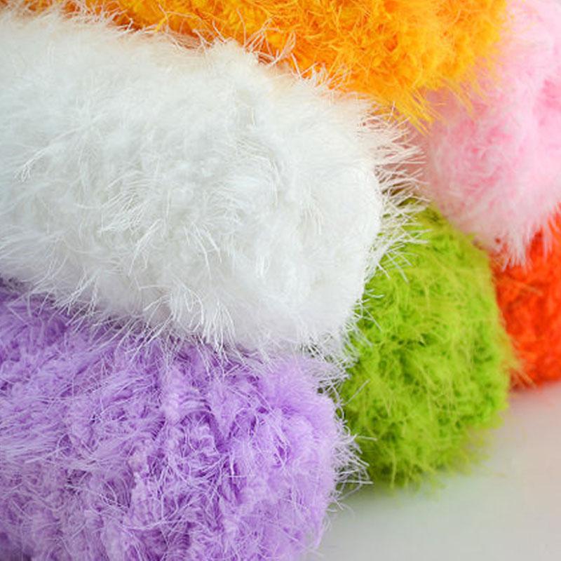500 g/lote 5 mão tricô bola de fios de vison China crochê fios do bebê de pele luxuoso lenço Eco Friendly tingido Mercerie Breiwol(China (Mainland))