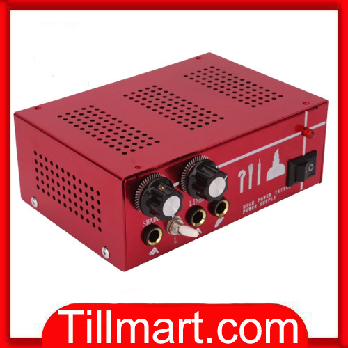Free shipping on sale High quality LED Digital Tattoo Power Supply Red