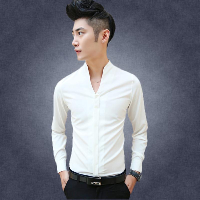 2016 new brand camisa social masculina mens shirts casual for Trim fit tuxedo shirt