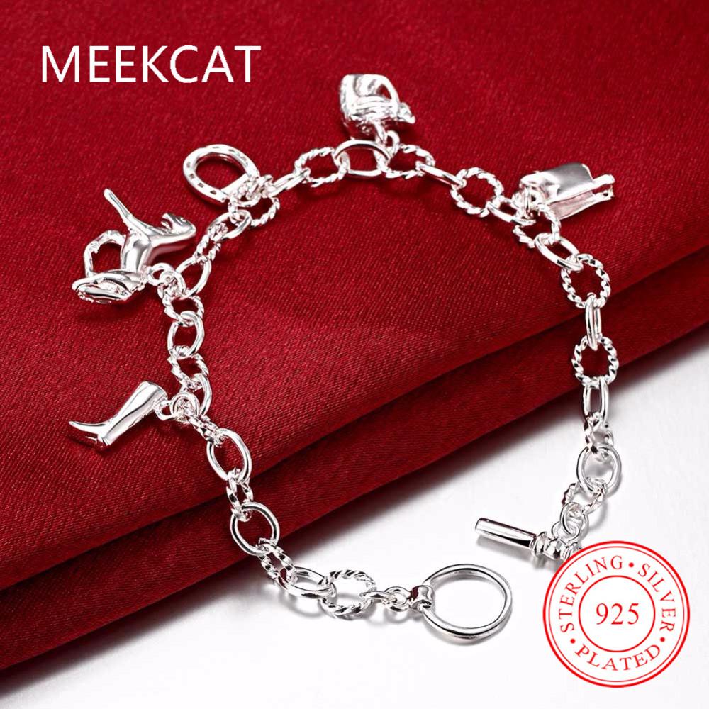 Silver Plated Fashion Jewelry Horse Hoof Bracelets For Ladies&Girls Horseshoe Pendants femme Bracelet bangles Accessories Bijoux(China (Mainland))