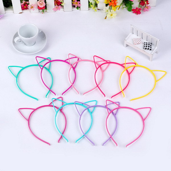 2015 New Fashion Hair Accessories Cute Cat Ear Hair Band Small Cat Headband for Women Hello Kitty Styling Tools Headwear(China (Mainland))