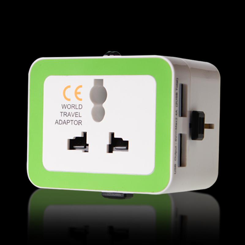 Abalon 110v to 220v Universal World Travel USB Powercube AC Power Multi Adapter Plug AU UK US EU voltage Converter Socket(China (Mainland))