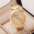 2015 new fashion gold stainless steel women geneva watches quartz movt watch women ladies wristwatches auto