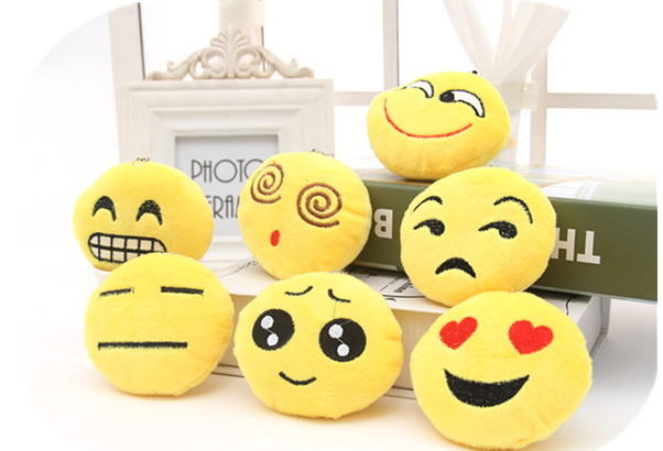10PCS/LOT Super Cute Mini 6CM Novelty Smiley Faces - Plush Stuffed TOY DOLL ; BAG Pendant String TOY Wedding Bouquet TOY DOLL(China (Mainland))