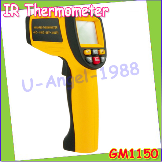 Wholesale 1pcs Professional Non-Contact Digital Gun Infrared IR Thermometer Laser Point GM1150 -50 ~ 1150 degree Dropshipping<br><br>Aliexpress