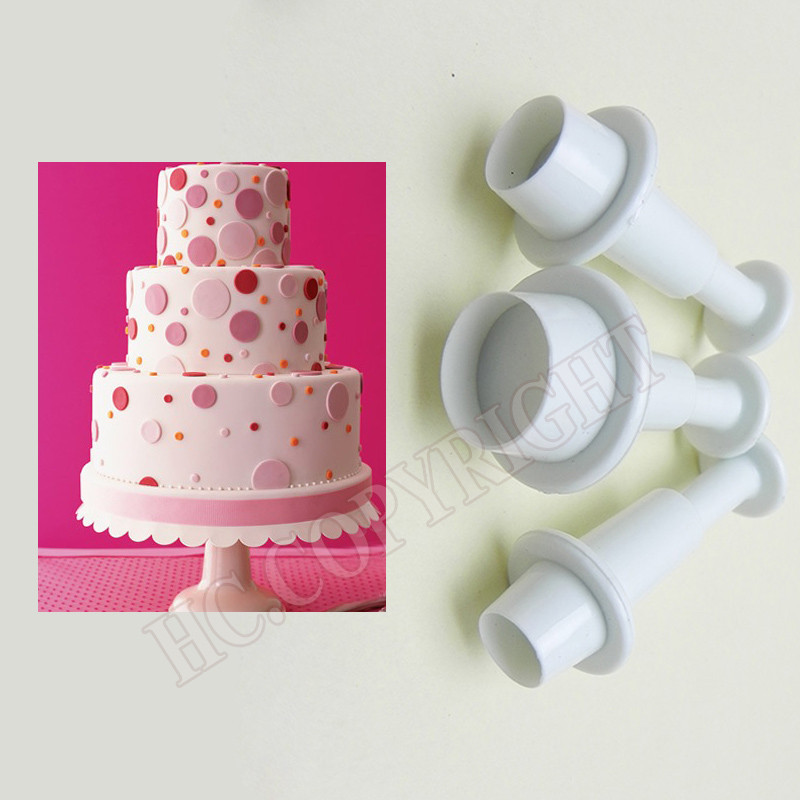 Cake Decorating Christmas Cutters : Aliexpress.com : Buy Round Plastic Fondant Plunger Cutters ...