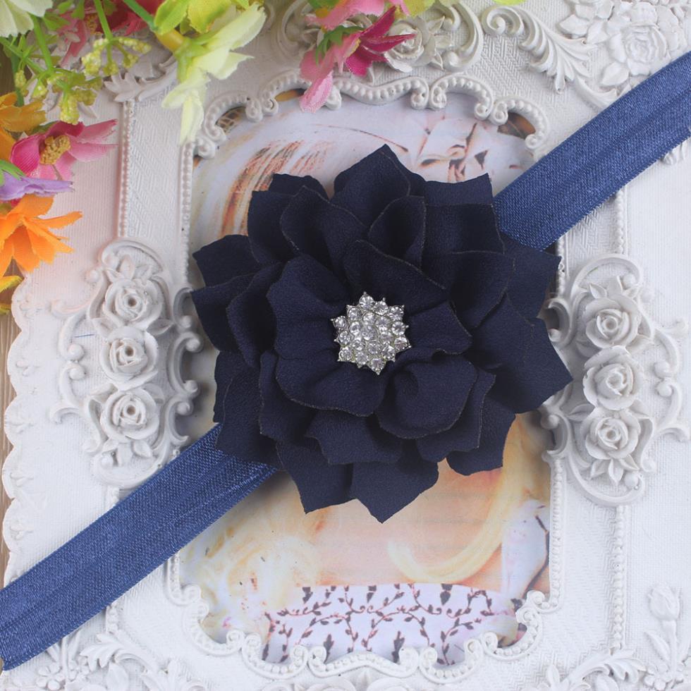 Chic Rhinestone Flower Kid Baby Girl Infant Toddler Headband Hair Bow Band Accessorie(China (Mainland))