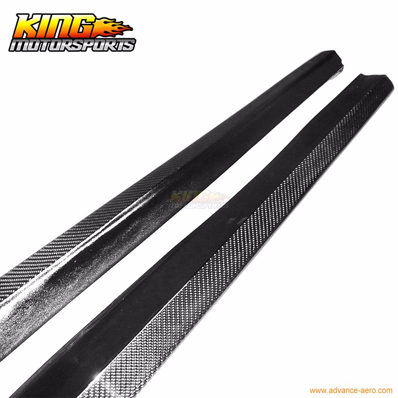 Fit For 2007-2010 BMW E92 2Dr M-Tech M Sport Only DP Style Side Skirts Carbon Fiber CF