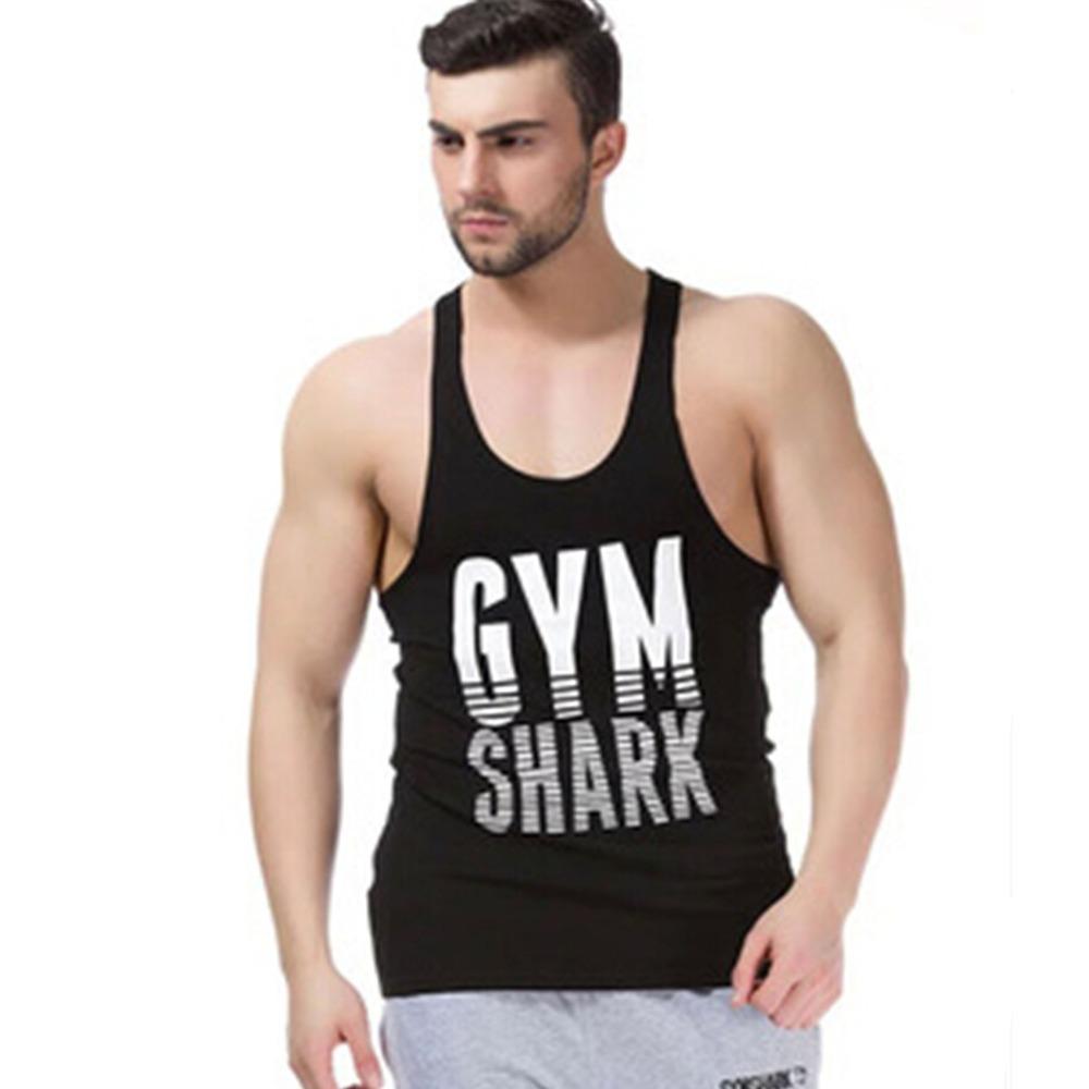 New gym shark singlets mens tank tops stringer
