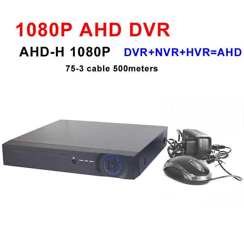 Фотография 4CH 1080P AHD-H DVR 3 in 1 AHD=DVR+NVR+HVR 8CH 1080P AHD Hi 3521 Full real time analog HD DVR