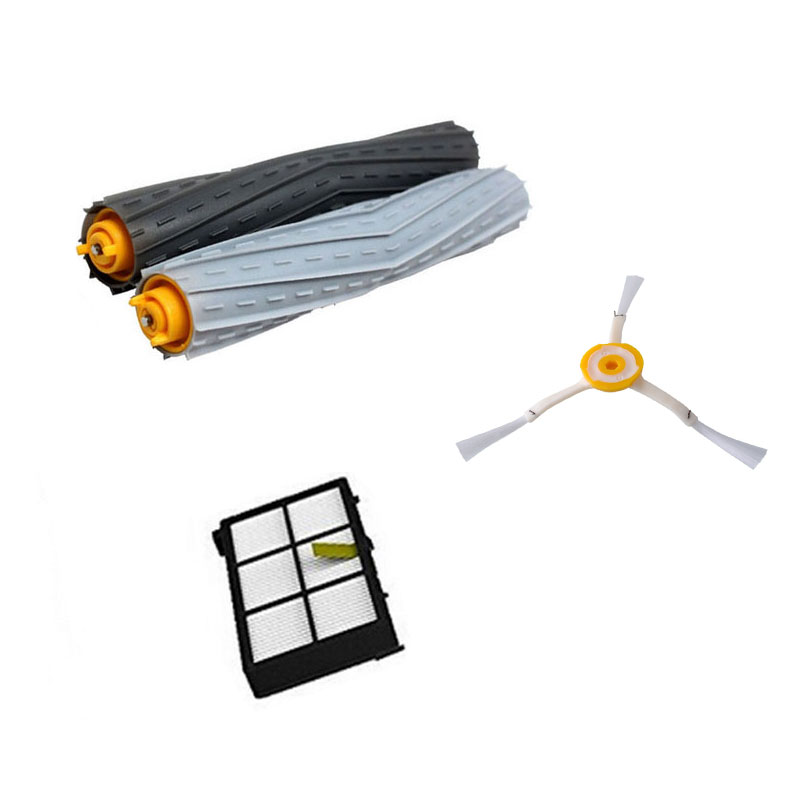 1 Tangle-Free Debris Extractor Set &Side Brushes &Hepa Filter For iRobot Roomba 800 series 870 880 980 Vacuum Cleaning Robots(China (Mainland))
