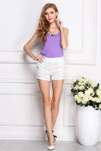 Popular fashion and fresh sweet dress sleeveless chiffon vest candy color pure color render unlined upper garment