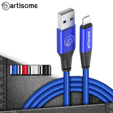 Buy USB Cable iPhone 6 6S 7 Plus 5S 5 SE Mobile Phone Cables Fast 2A USB Charger Data Cable iPhone iPad Air iPod Mini for $1.59 in AliExpress store