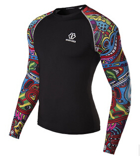 Mens Compression Base Layer Tights Shirt Pants suit Long Sleeve Gym Fitness T shirts Exercise Lifting Sports Tops CPD - CHENXUAN NELLY Hip Hop store