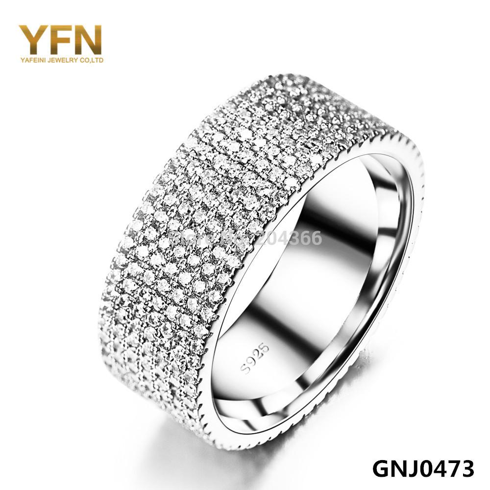 YFN Fashion Accessories Full 7-row CZ Wedding Rings Anel Feminino 2015 NEW 925 Sterling Silver Jewelry Women GNJ0473 - Elegant Co.,Ltd store