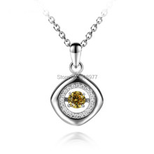 2015 fashion 925 sterling silver  necklaces Rhinestone necklace Zircon pendant   jewelry for women(China (Mainland))