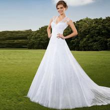 Vestido De Novia Lace Wedding Dress Louisvuigon Woman Back Court Train Robe De Mariage Cheap Price Bridal Dresses Gowns 2015 New(China (Mainland))
