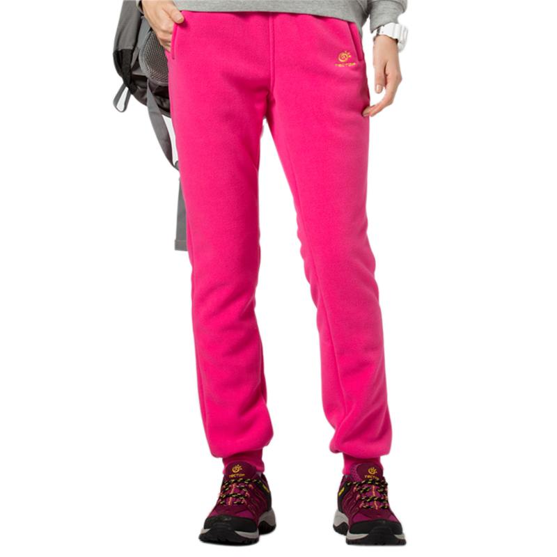 Фотография Free Shipping Outdoor Sport Pants Women Warm Winter Fleece Pants Simple Solid Female Pants PW5122