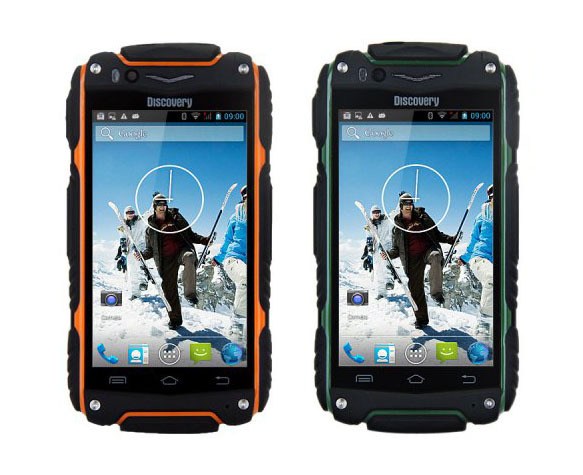 Discovery V8 Waterproof Smart Mobile Phone MTK6572 Dual Core 4inch Screen 5MP 3G WCDMA GPS Dustproof Outdoor Cell Phone(China (Mainland))