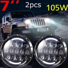 105w Headlamp 7 Inch Jeeps Wrangler Led Headlight DRL Jk Tj Fj Cruiser Trucks Road Lights - CAR-LED CLUB Store store