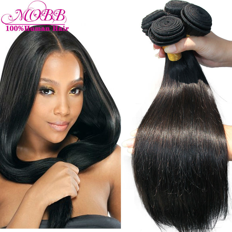 Peruvian Virgin Hair Straight 5 Bundles Human Hair Weave Can be Dyed and Restyle Unprocessed Virgin Peruvian Straight Hair Weft(China (Mainland))