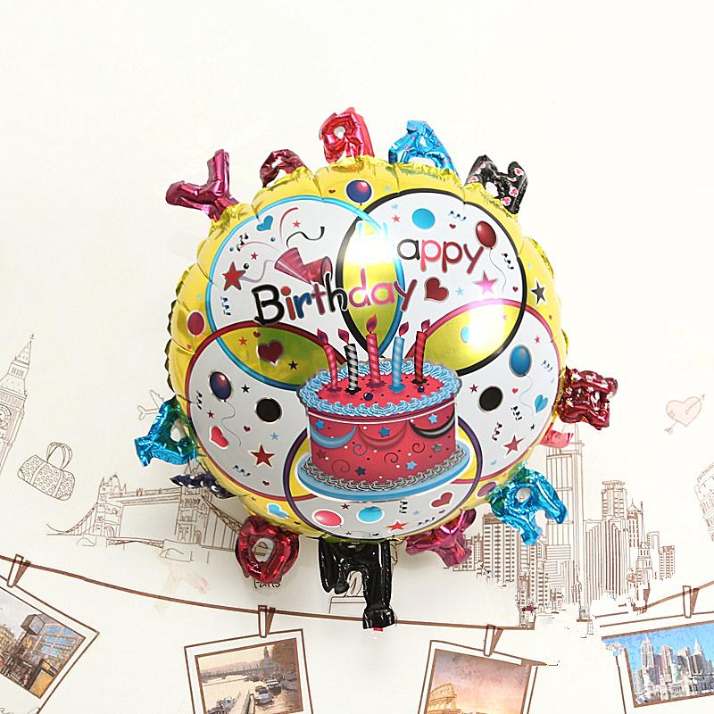 Free shipping 100pcs/lot 18 inch round shape foil balloon helium balloon happy birthday balloon<br><br>Aliexpress
