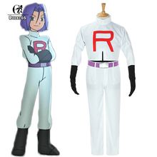 Pokemon Go Cosplay ROLECOS Anime Pocket Monster Women Cosplay Costumes Team Rocket James Top and Pants Costumes Pokemon Cosplay