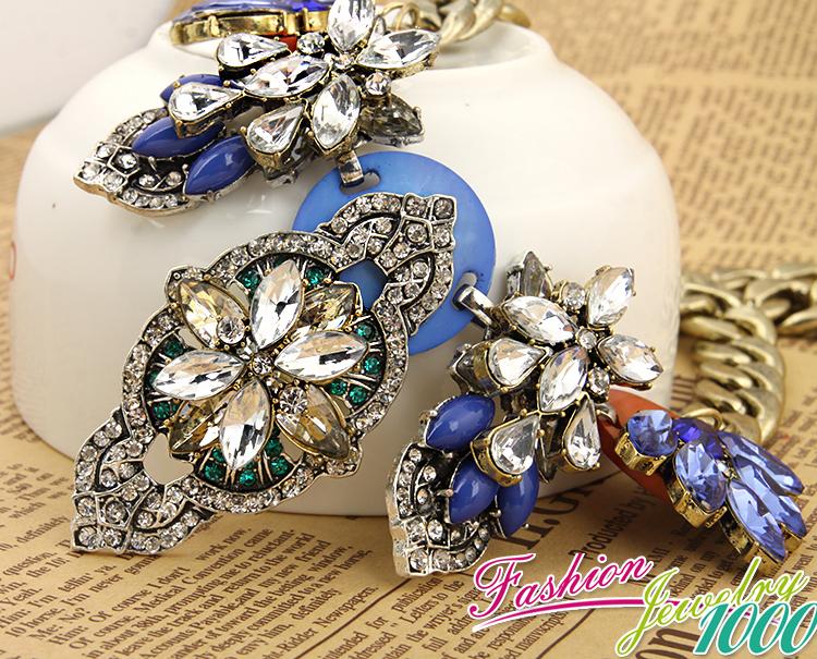 Новый индивидуальный винтаж кристалл многослойные цветок кулон на цепочке ожерелье мода себе ювелирные изделия для женщин ну вечеринку бесплатная доставка