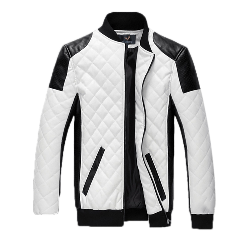 Fashion Man Leather Jackets PU Leather Jaquetas Masculinas Inverno Couro Men Winter Outwear Mens White Jackets and Coats(China (Mainland))