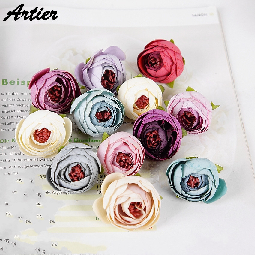 Artificial flower 2016 new camellia hand made home decorative wedding simulation flower AR1103(China (Mainland))