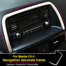High Quality! stainless steel trim interior frame decoration stickers auto parts for Mazda CX-5 CX5 2012 2013 2014 1pcs
